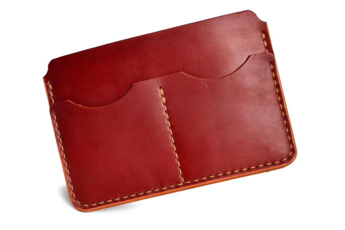 Чехол для паспорта Uno из бордовой кожи [USPСUR427]