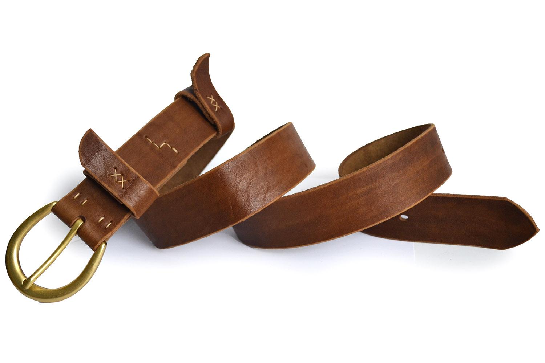 Кожаный ремень Shoe с пряжкой подковой