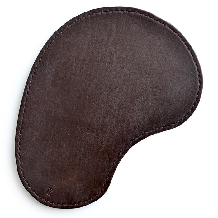кожаный коврик для мыши track коричневый, для левшей [ugmm457]