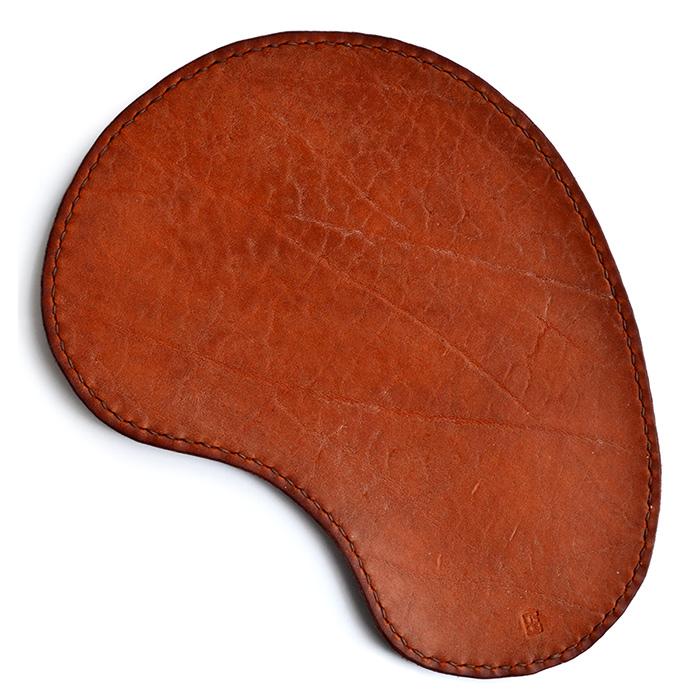 Кожаный коврик для мыши Track рыжий [UGMM479]
