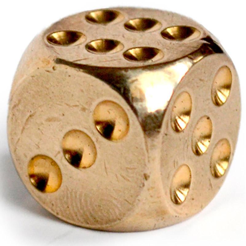игральная кость, латунь 20 мм [ugla527]